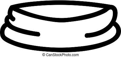 contour, bandana, vector., illustration, symbole, isolé, icône