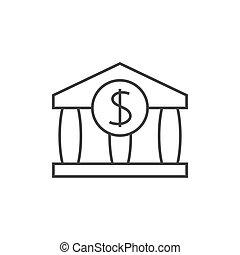 contour, banque, icône
