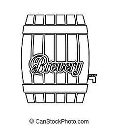 contour barrel icon image design