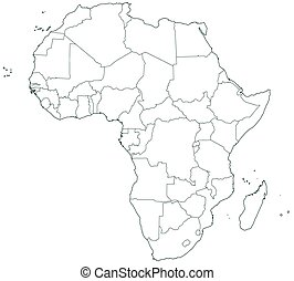 Color map of africa regions stock illustrations search eps clipart contour border map of the africa all objects are independent and fully editable source of map httplibutexasmapsafrica africapol2012pdf sciox Choice Image