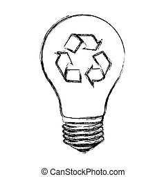 contour bulb eco icon