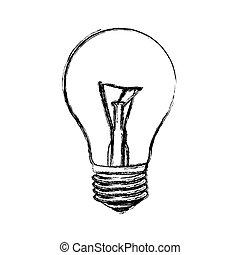 contour bulb icon image