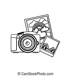 contour camera with pictures icon