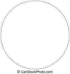 Contour Circle Halftone Dotted Icon