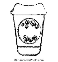 contour coffee drink food icon