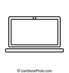 contour color monochrome laptop computer