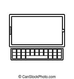 contour color monochrome tablet touch with keyboard