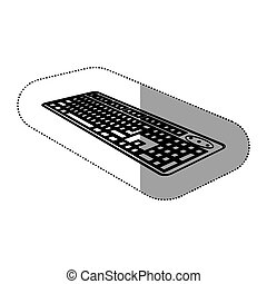 contour computer keyboard icon