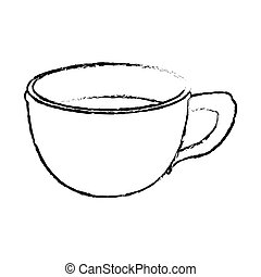 Contour cup coffee icon image