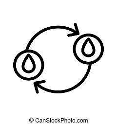contour, donation, vecteur, icône, sanguine, illustration