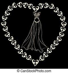contour dress on black