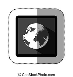 contour earth planet icon