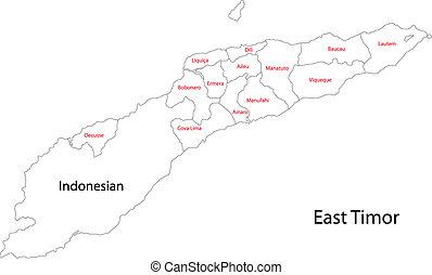 East Timor Political Map East Timor Political Map With Clip - East timor seetimor leste map vector