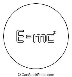 contour, education, plat, physique, image, style, 2, couleur énergie, droit & loi, noir, relativité, e, rond, vecteur, carré, signe égal, icône, e=mc, concept, cercle, mc, formule, théorie, illustration