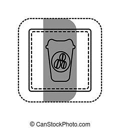 contour emblem coffee espresso icon