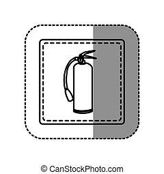 contour emblem sticker extinguisher icon