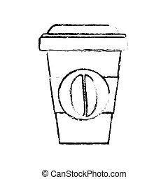Contour espresso coffee image icon