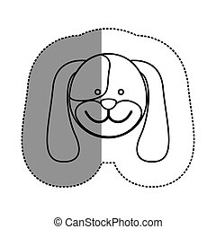 contour face dog icon