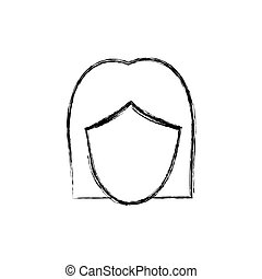 contour face formal woman icon