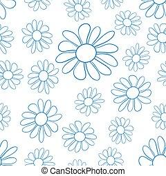 Contour flower pattern