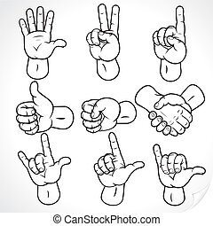 Contour Hands 2 - Contour hands collection, accuracy...