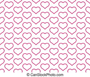 Contour heart pattern - Seamless pattern of the valentine's ...
