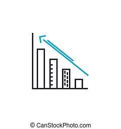 contour, illustration, signe, symbole, coup, vecteur, croissance, mince, icon., taux, ligne, concept., linéaire