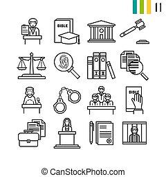 contour, judiciaire, icônes