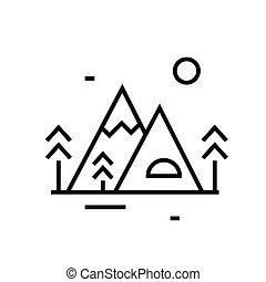 contour, ligne, beau, signe, vecteur, symbole., recours, linéaire, illustration, concept, icône