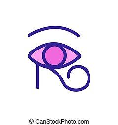 contour, magie, vector., illustration, signe, symbole, isolé, icône