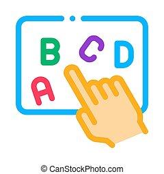 contour, main, exposition, vecteur, illustration, lettre, ...