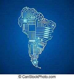 contour mainland South America
