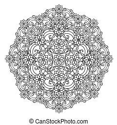 contour, Mandala. ethnic, religious - contour, Mandala....