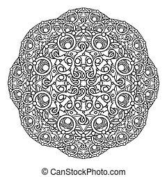 contour, Mandala. religious design
