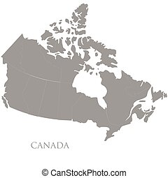 Canadian map on white background Detailed map of canada vector