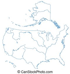 Contour map of USA