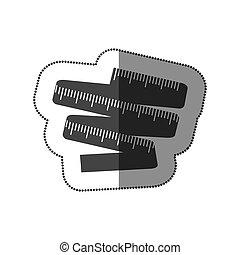contour measuring tape icon