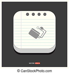 Contour medical mechanical tonometer icon Gray icon on Notepad Style template Vector EPS 10 Free Icon