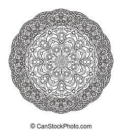 contour, monochrome Mandala. ethnic, religious design...