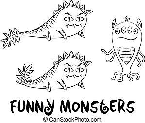 Contour Monsters Set
