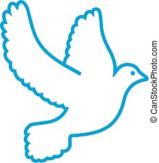 Contour of a dove