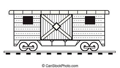 Contour of a wagon - Illustration of a wagon contour...