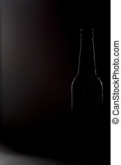 Contour of dark beer bottle