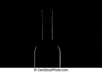Contour of vine bottle