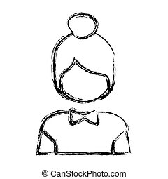 contour people face icon image, vector illustration design