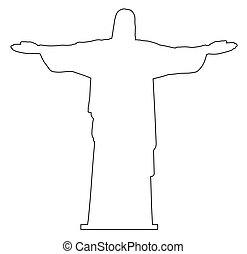 contour, rédempteur, christ
