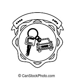 contour seal key ring car with label