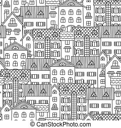 Contour seamless pattern