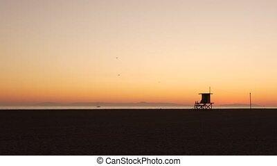 contour, sky., orange, ca, californie, silhouette, iconique...