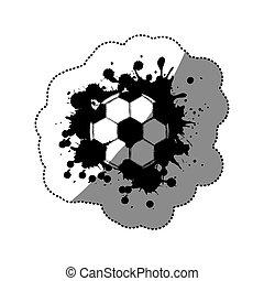 contour soccer ball icon